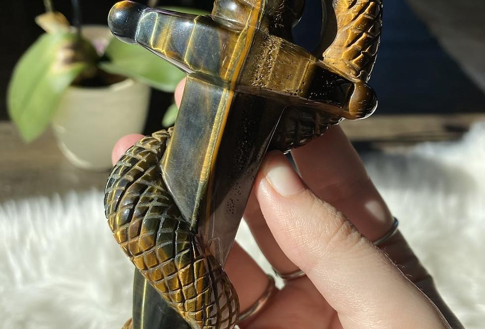 Tigers Eye Snake Dagger #1