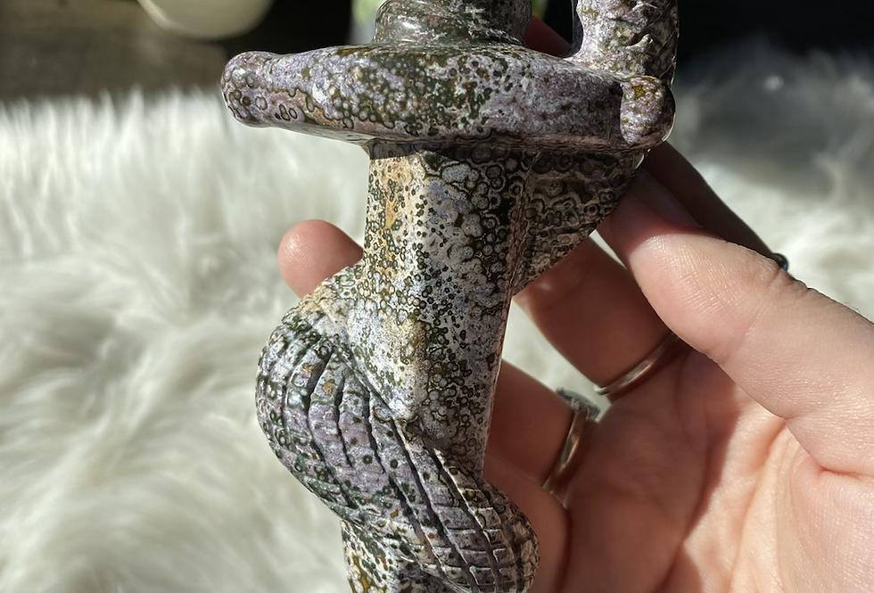 Ocean Jasper Snake Dagger #4