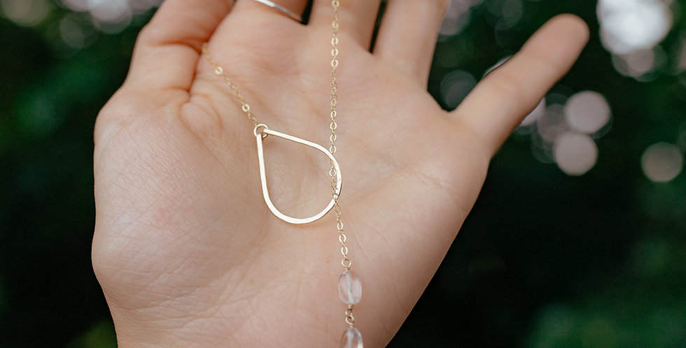 Quartz Lariat Necklace