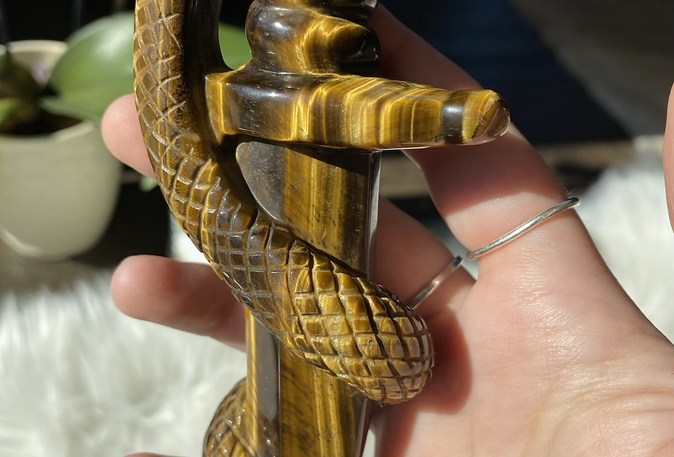 Tigers Eye Snake Dagger #3