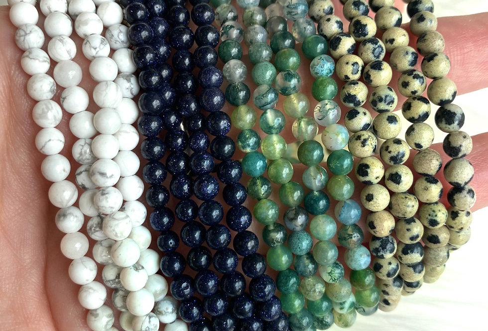 4mm gemstone beaded bracelets
