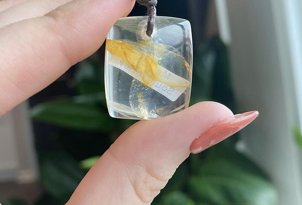 Golden Healer Quartz Necklace