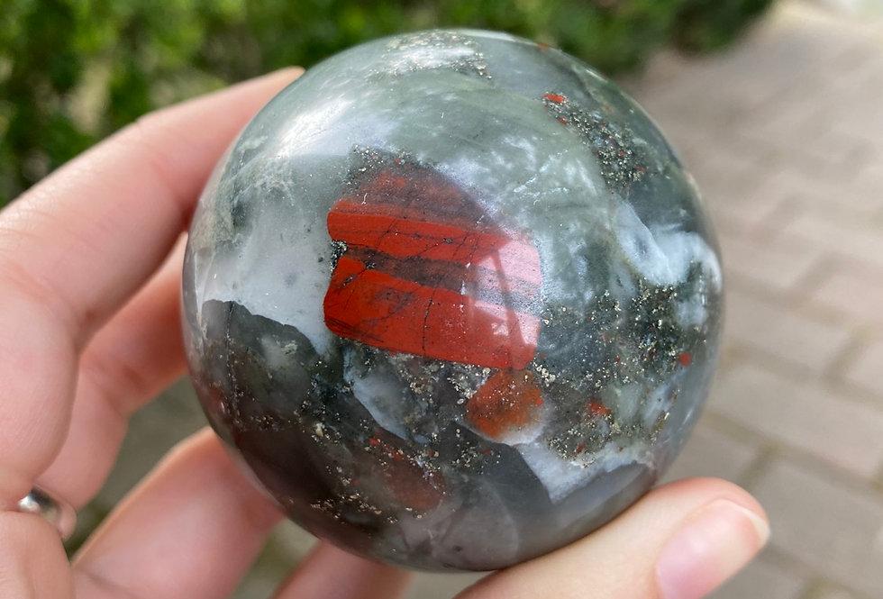 Bloodstone Jasper Sphere #2