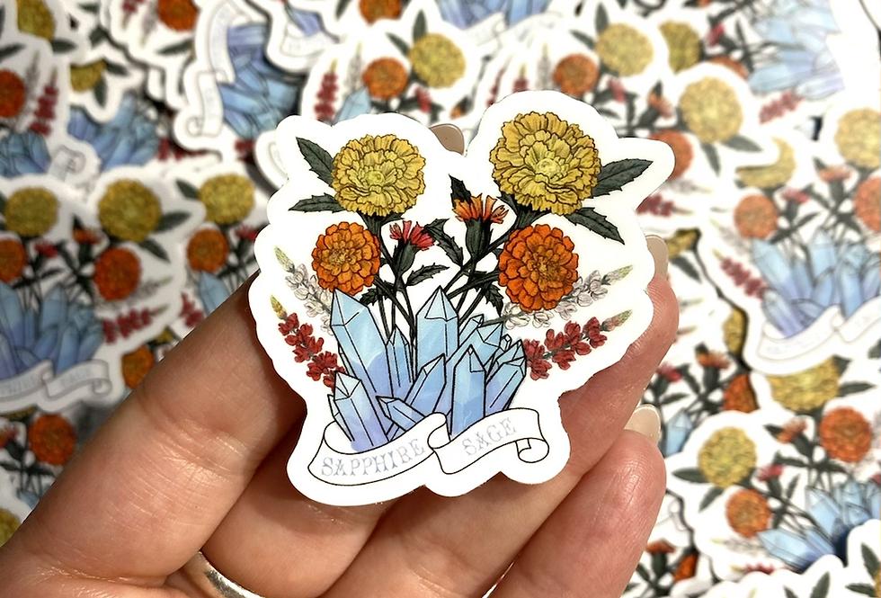 Crystal & Flower Sticker Set