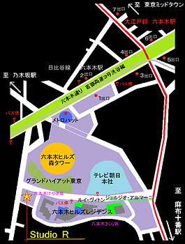 StudioR六本木ヒルズ地図