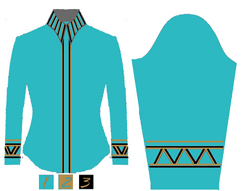 Simple Chic: Turquoise - Gold - Black