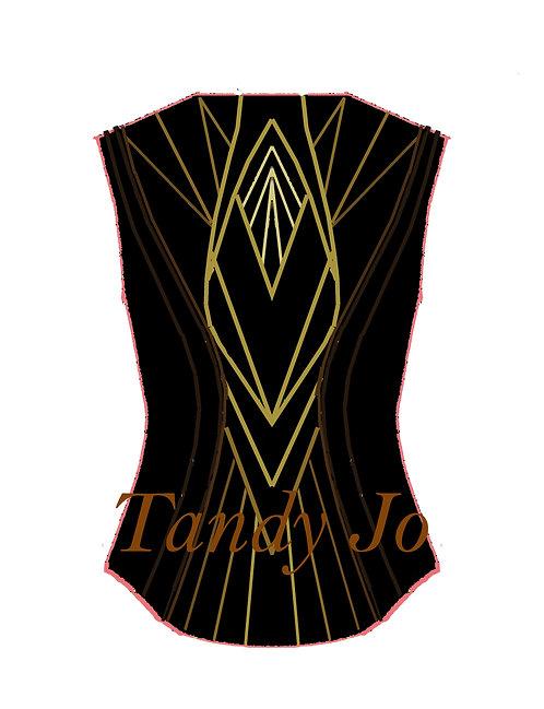 Black Brown Ombre VEST: Designer Code: KZWB