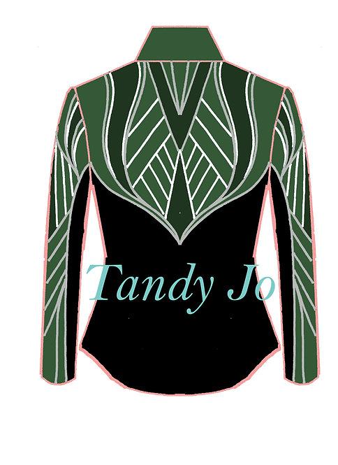 Black - White - Silver - Green Tones: Designer Code: DKMU