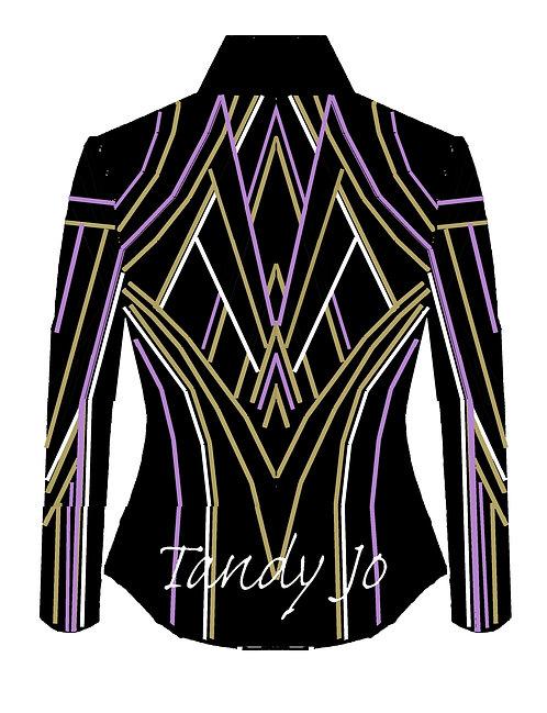 Black - White - Lavender - Gold: Designer Code: LDFC