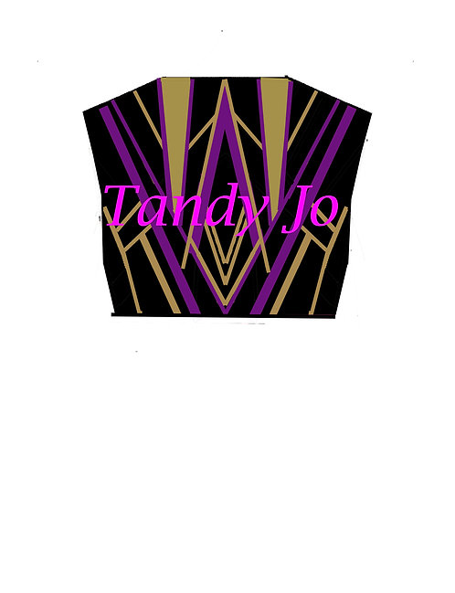 BOLERO Black  - Purple - Gold: Designer Code ATRT