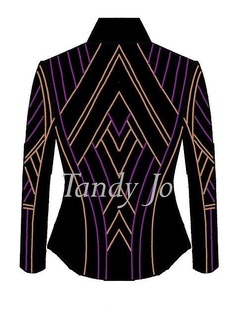 Black - Purple - Gold: Designer Code: KFRX