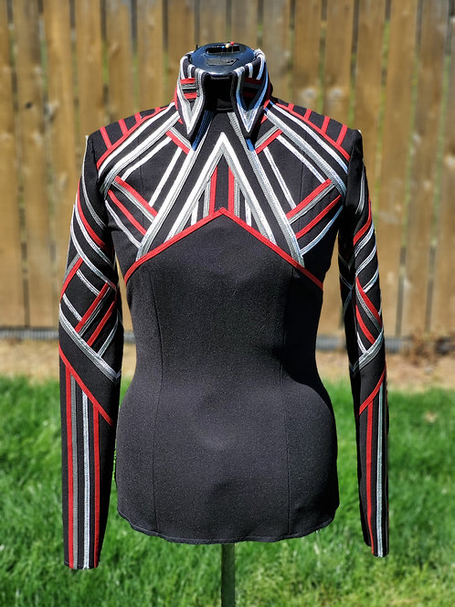 DIY Horsemanship top Red Silver Black Charcoal