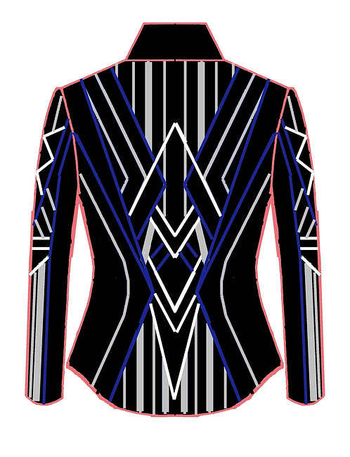 Black - White - Silver - Royal blue: Designer Code:VNEX