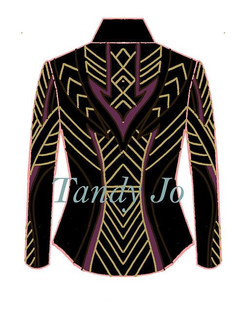 Black - Pansy Purple - Cognac brown - Gold: Designer Code: MDUB