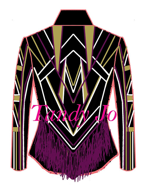 FRINGE OPTION Black - White - Amatista Purple - Gold: Designer Code: ATQM