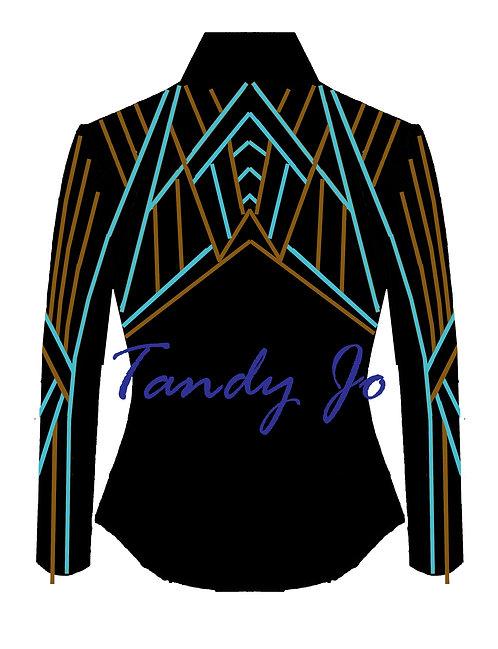 Black - Turquoise - Copper: Designer Code: NEKF