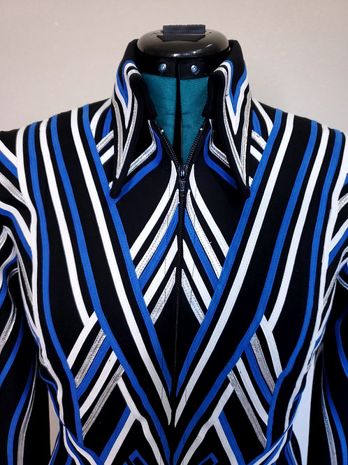 RESERVED royal white black silver DIY sms jacket