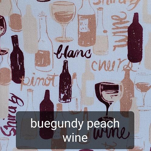 Face mask - Burgundy Peach Wine