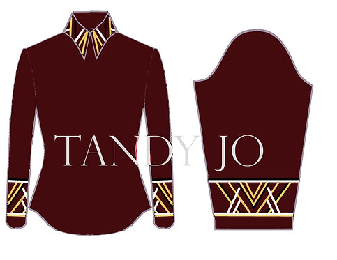 Simple Chic Top: ZZZ21 - Burgundy, Black, White, Gold