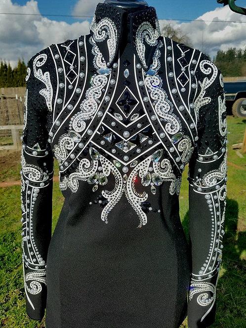 BLack/White Horsemanship Top
