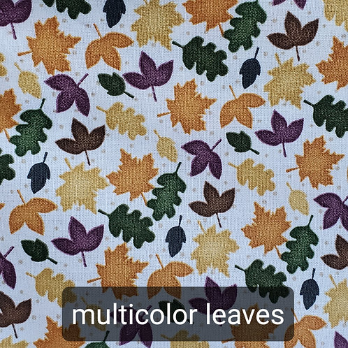 Face mask - multicolor leaves