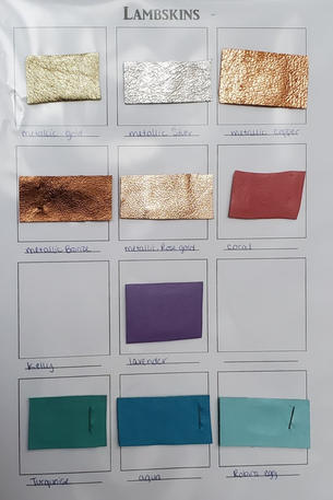 Lambskin Swatches - Popular Colors