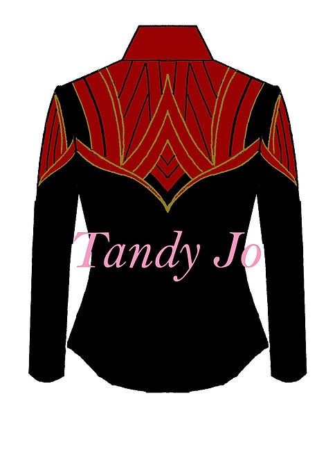 Black - Red - Gold: Designer Code: NTES