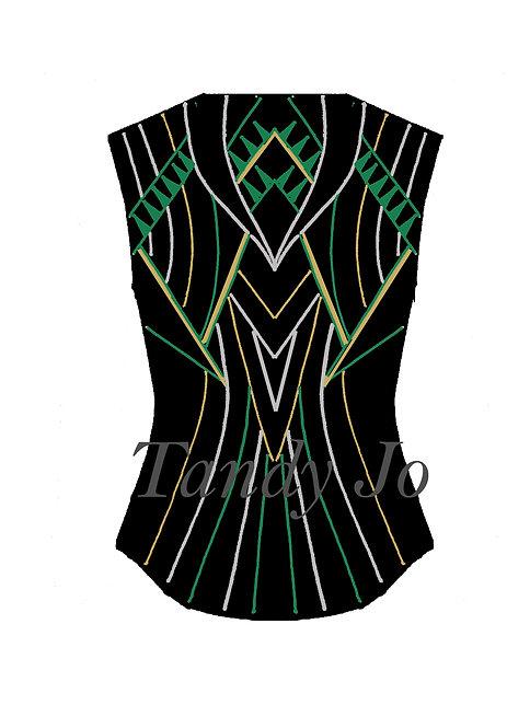 Black - Kelly Green - Silver - Gold VEST: Designer Code: VOTM
