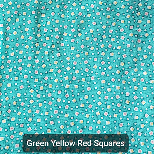 Face mask - Green Yellow Red Squares