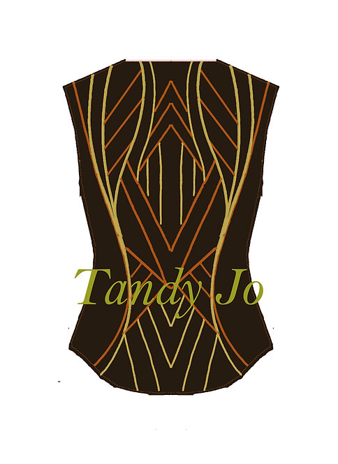 Chocolate Brown - Rust - Gold VEST: Designer Code: SLES