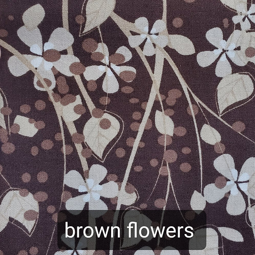 Face mask - brown flowers