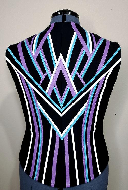 RESERVED lavender turquoise DIY vest