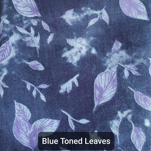 Face mask - Blue Toned Leaves