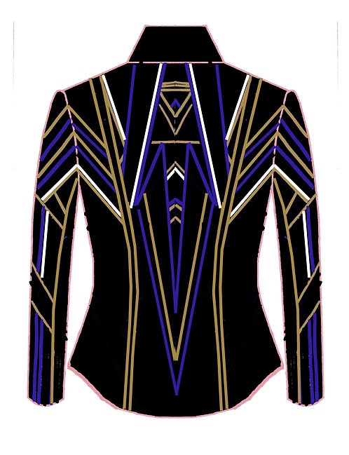 Black - White - Royal - Gold: Designer Code: CNEZ