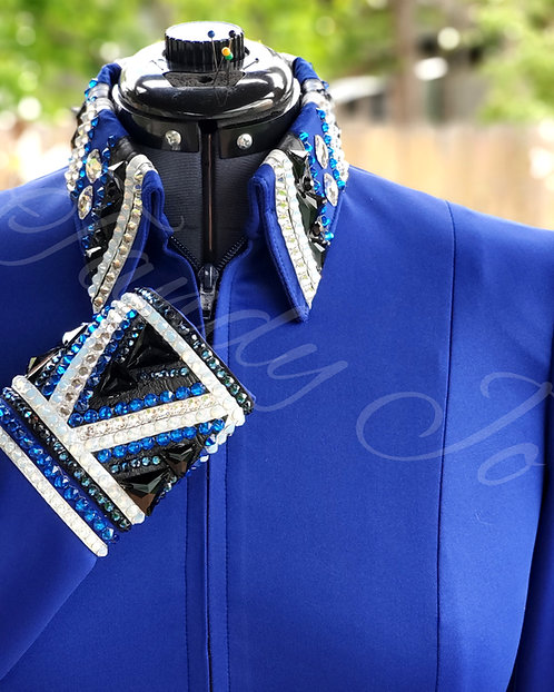 Simple Chic Royal Blue Black White