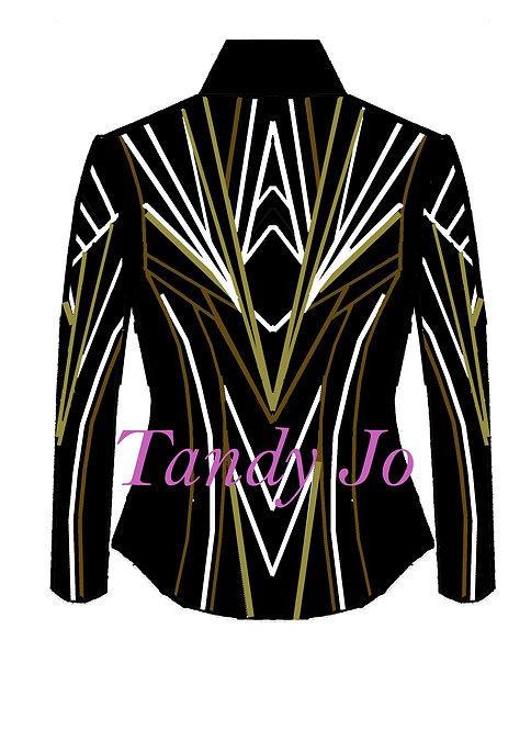 Black - White - Gold - Bronze: Designer Code: GOAW