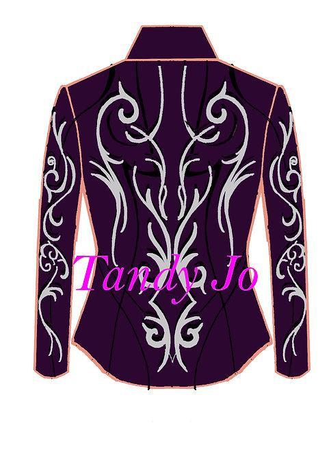 Purple - Silver - Black: Designer Code: MDVQ