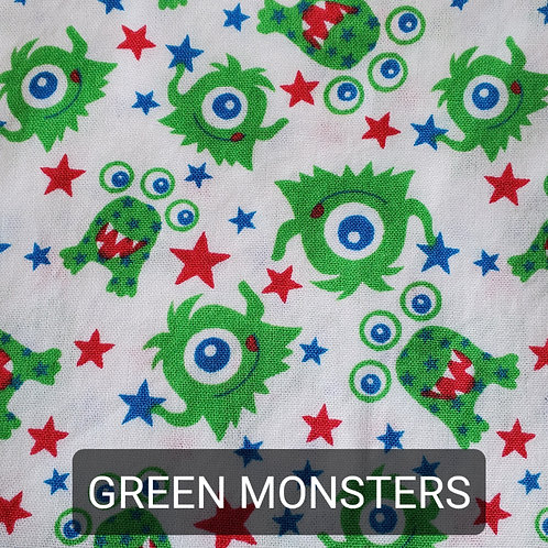 Face mask - Green Monsters