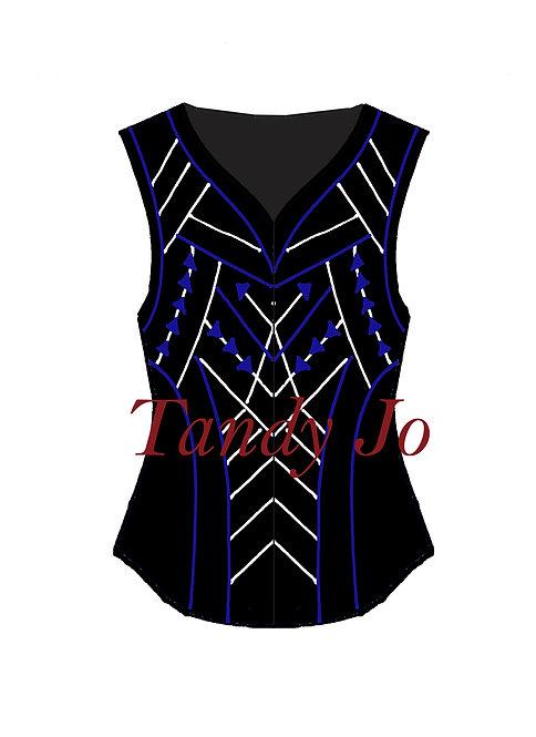 Black - Royal blue - White: Designer Code: VNRU