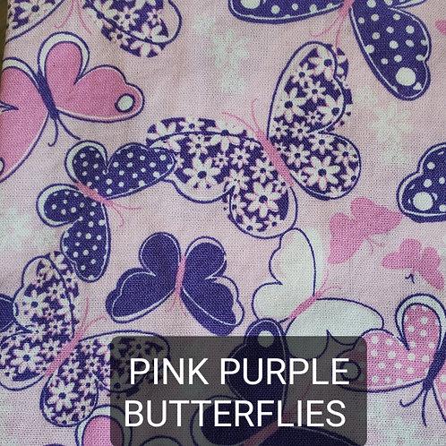 Face mask - Pink Purple Butterflies