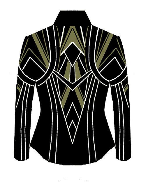 Black - White - Verde Green: Designer Code: VJTM
