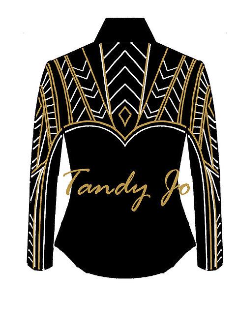 Black - Gold - White: Designer Code: TJEB