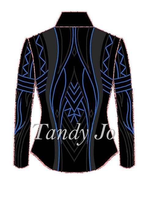 Black - Charcoal - Atlantis Blue: Designer Code: OPYU