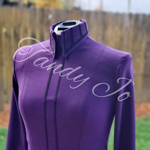 Purple Stretch Horsemanship Day Shirt - ready to crystal