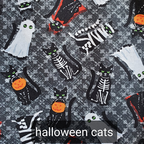 Face mask - Halloween cats