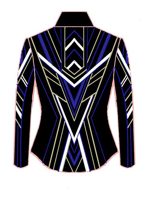 RESERVED Black - White - Royal Blue - Sand: Designer Code:BNEK