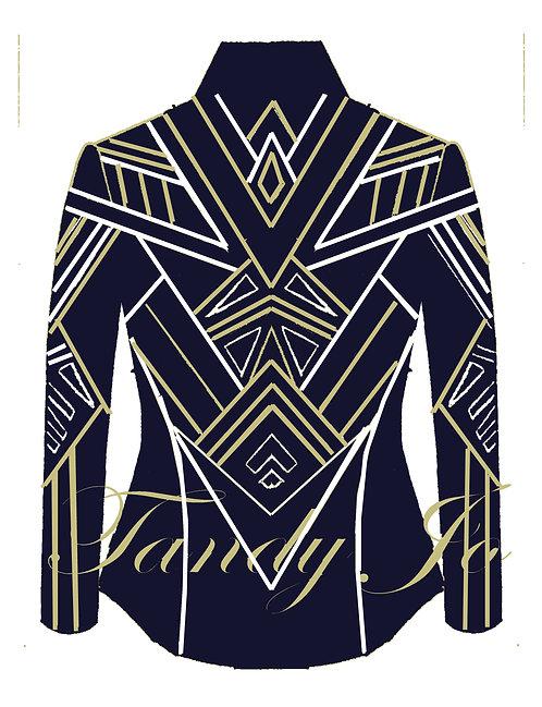 Navy - White - Gold: Designer Code: WOPQ