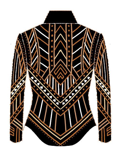 Black Gold Tan Beige Jacket