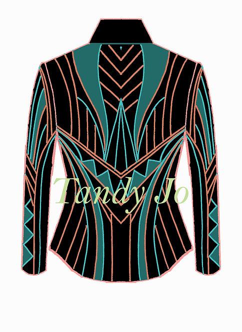 Black - Turquoise - Coral - Teal: Designer Code: NWAG