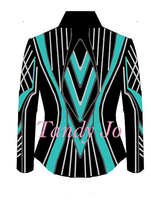 Black - Turquoise - charcoal - Silver: Designer Code: AARR